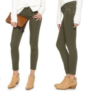 EUC Paige Verdugo Ankle Jeans in Dark Moss